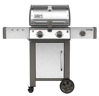 Genesis II LX S-240 2-Burner Natural Gas Grill + Side Burner, 29,000-BTU, Stainless Steel