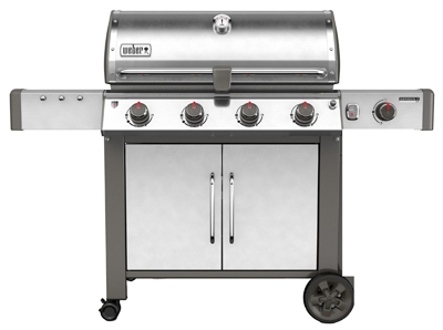 Genesis II LX S-440 4-Burner Natural Gas Grill, 52,000-BTU + Side Burner, Stainless Steel