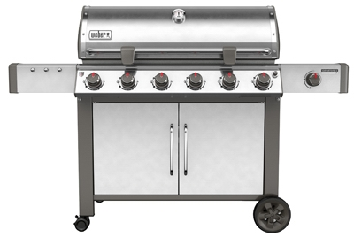 Genesis II LX S-640 6-Burner Natural Gas Grill + Side Burner, 72,000-BTU, Stainless Steel