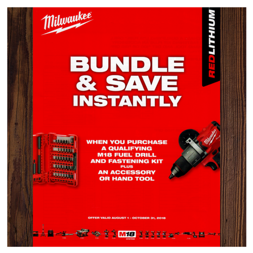 Bundle & Save with Milwaukee