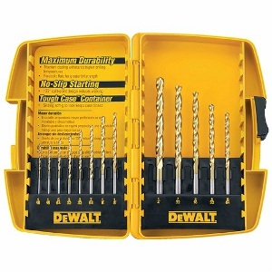 13 PC. TITANNIUM DRILL BIT SET