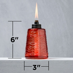 Tiki Glass Table Torch