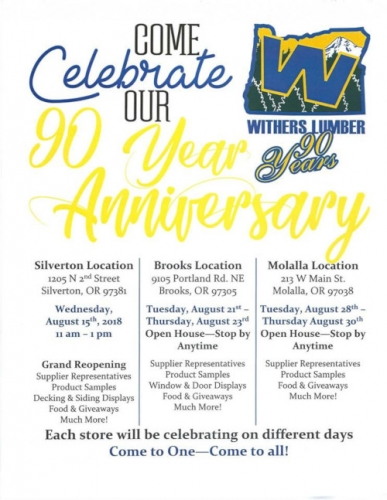 90th Anniversary Store Celebrations