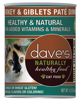 Dave's Naturally Healthy™ Canned Cat Food Turkey & Giblets Dinner