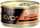 EVO™ 95 Chicken & Turkey Recipe in Gravy Canned Cat Food