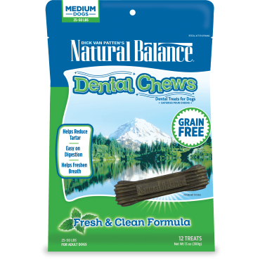 $5 Off 13oz Bags Natural Balance Dental Dog Chews