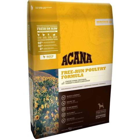 ACANA Free-Run Poultry Formula Grain-Free Dry Dog Food