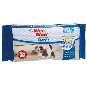 Four Paws Wee Wee Disposable Diapers Extra Small 12pk