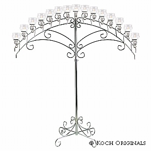15 Light fan candelabra