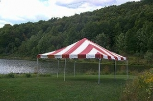 Anchor 20x20 frame tent red&white and yellow&white