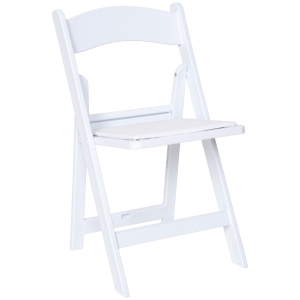 PRE White Resin Folding Chair