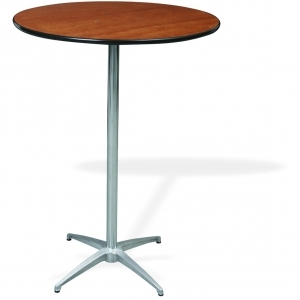 "P.S. 100 Series - 30"" di x ADJ ht Pedestal Rd. Reception Table"