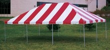 Anchor 20x30 frame tent red&white and yellow&white