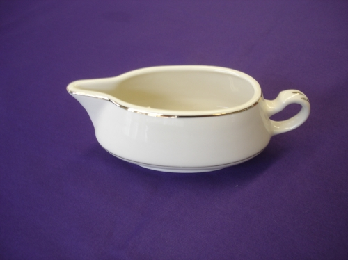Gravy bowl with gold trim