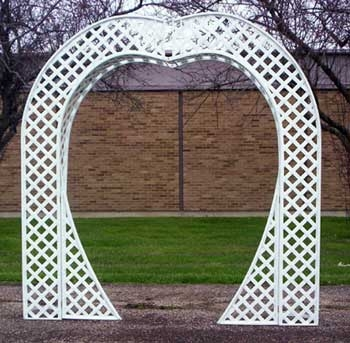 Lattice Heart Shaped Arch