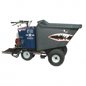 Miller Spreader 16 CF Ride On Concrete Power Buggy Poly Bucket Recoil Start