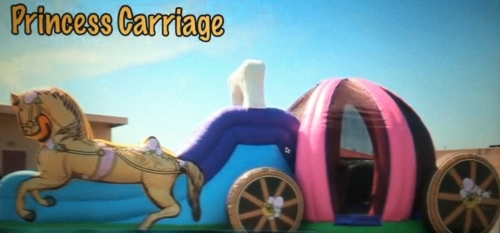 Inflatable Princess Carriage Combo Bounce House