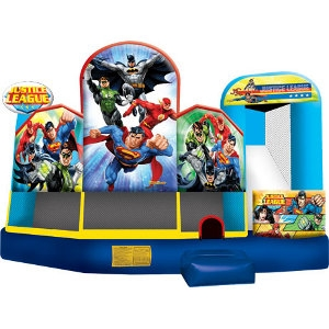 Inflatable Justice League 5 In 1 Combo Wet/Dry