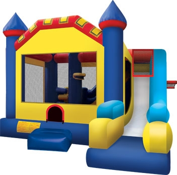 Inflatable Jump House with External Slide