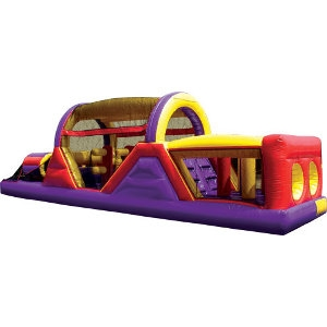 Inflatable 40' Dual Lane Obstacle Course
