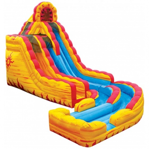 Inflatable Fire and Ice Dual Lane Water Slide