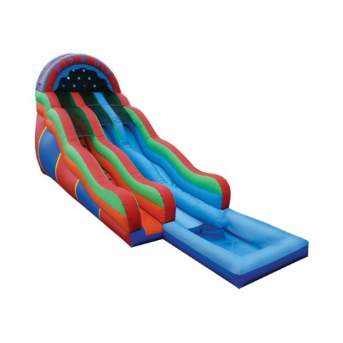 Rip & Dip Dual Water Slide with Pool