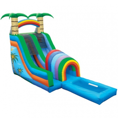 Inflatable Funnel Tunnel Water Slide with Pool