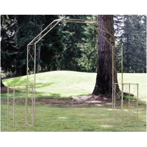 Convertible Wedding Arch w/ Two Columns-Nickel