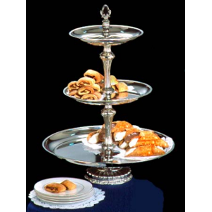 Three Tier Silver Tray