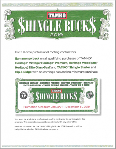 Shingle Bucks!