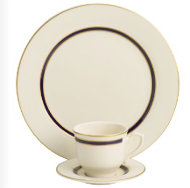 Ivory with Gold Rim Cup & Saucer