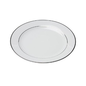 White Rim Platinum Dinner Plate