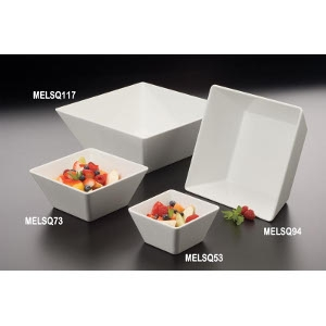 Endurance Melamine Square Bowl, 125 Oz