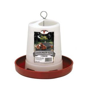 3 Pound Plastic Hanging Poultry Feeder