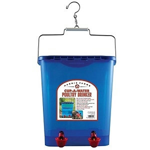 Cup-A-Waterer Poultry Drinker 4 Gallon