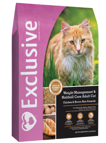 Exclusive Weight Management & Hairball Care Cat food