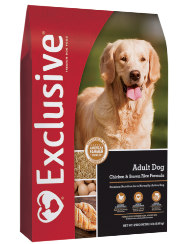 Exclusive Chicken & Brown Rice Adult Dog food 15lb