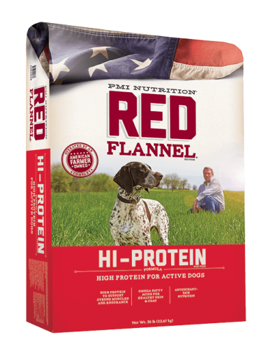 Red Flannel Dog Food  Hi-Protein