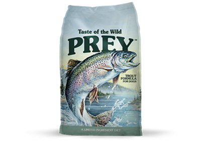 Taste of the Wild Prey Trout Formula for Dogs (8 & 25#)