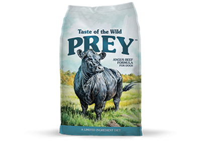 Taste of the Wild Prey Angus Beef Formula for Dogs 8lb