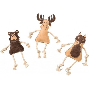 Leather Dura Dog Toy Forest Friends