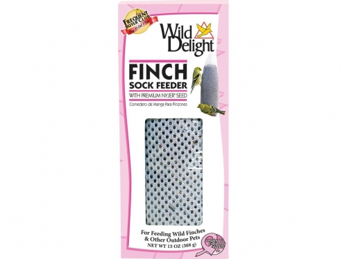 Pink Ribbon Finch Sock Feeder