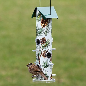 Perky-Pet® Pine Metal Tube Bird Feeder
