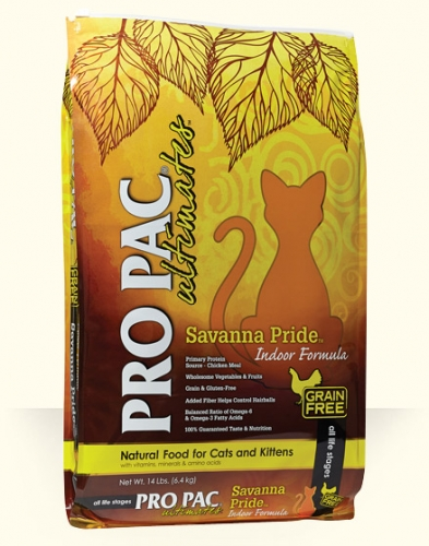 ProPac Ultimate Savanna Pride Grain Free Cat Food Chicken