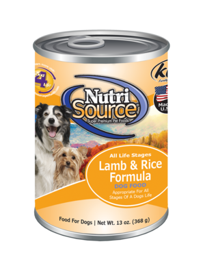 Nutrisource Lamb & Rice Dog Food Can 13oz