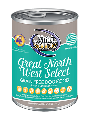Nutrisource Great North West Select Grain Free Dog Food Can 13oz