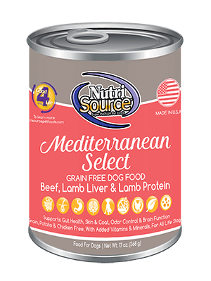 Nutrisource Mediterranean Select Grain Free Canned Dog Food
