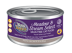 Nutrisource Meadow and Stream Select Grain Free Canned Cat Food 5.5oz