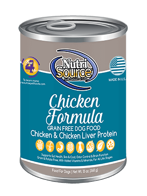 Nutrisource Chicken Formula Grain Free Canned Dog Food 13oz