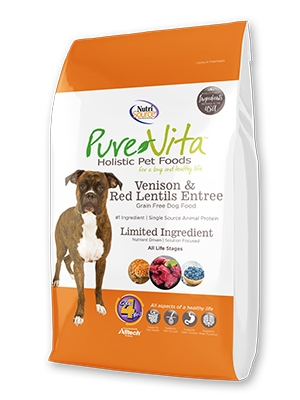 Nutrisource Pure Vita Venison & Red Lentils Grain Free Dog Food